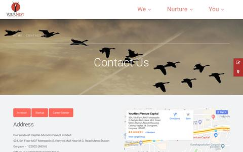 Screenshot of Contact Page yournest.in - Contact Us | Yournest - captured Oct. 19, 2018