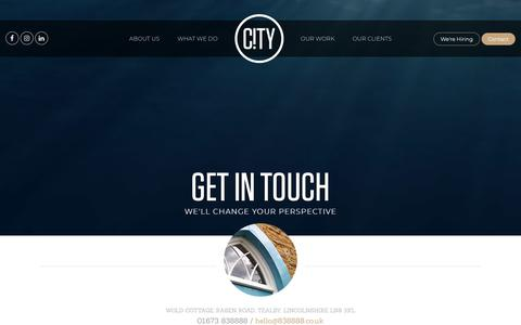 Screenshot of Contact Page 838888.co.uk - Contact City Graphics Partnership | Web Design Studio Grimsby, Lincoln - captured Sept. 28, 2018
