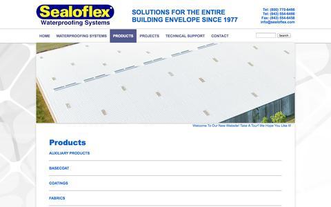 Screenshot of Products Page sealoflex.com - Products | Sealoflex - captured Oct. 4, 2014