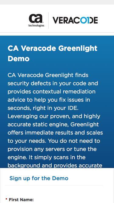 Veracode Greenlight Demo | Veracode