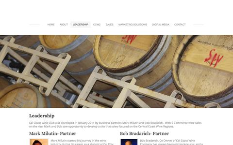 Screenshot of Team Page calcoastwinecompany.com - Leadership - - captured Sept. 27, 2014