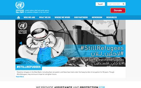 Screenshot of Home Page unrwa.org - UNRWA | United Nations Relief and Works Agency for Palestine Refugees in the Near East - captured May 27, 2017