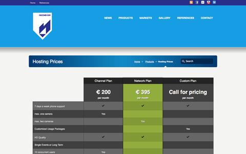 Screenshot of Pricing Page incendium.dk - Hosting Prices - Incendium Incendium - captured Sept. 30, 2014