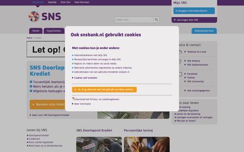 Lenen - SNS Bank
