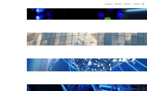 Screenshot of Home Page cyrusone.com - Home - CyrusOne - captured July 24, 2018