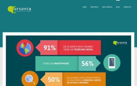 Screenshot of Blog orsonia.com.ar - Blog | Orsonia | Interactive Ideas - captured Sept. 30, 2014