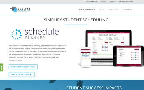 Screenshot of Case Studies Page collegescheduler.com - Schedule Planner - College Scheduler by Civitas Learning - captured June 26, 2018