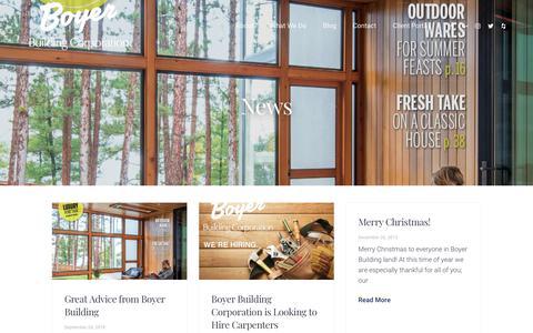 Screenshot of Press Page boyerbuilding.com - News Archives - Boyer Building Corporation - captured Oct. 6, 2018