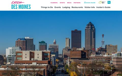 Screenshot of About Page catchdesmoines.com - About Des Moines | Catch Des Moines - captured Sept. 23, 2018