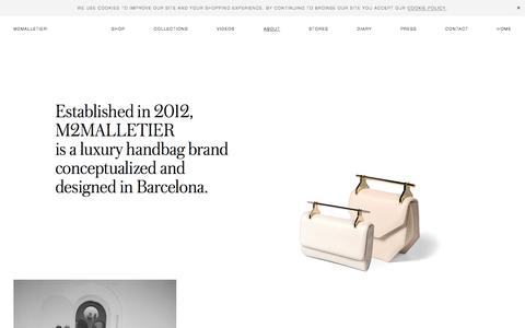 Screenshot of About Page m2malletier.com - About \ M2Malletier Luxury Leather Bags - captured Oct. 7, 2019