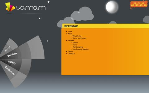 Screenshot of Site Map Page vannam.in - Sitemap | Painting Contractors in Chennai - captured Oct. 26, 2014