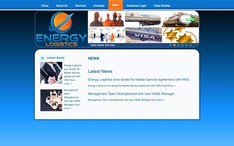 Screenshot of Press Page energylogistics-iq.com - ENERGY LOGISTICS – IRAQ  » News - captured Oct. 2, 2014