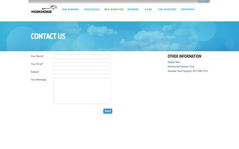 Screenshot of Contact Page ampelectricvehicles.com - Contact | Amp Electric Vehicles - captured Sept. 30, 2014