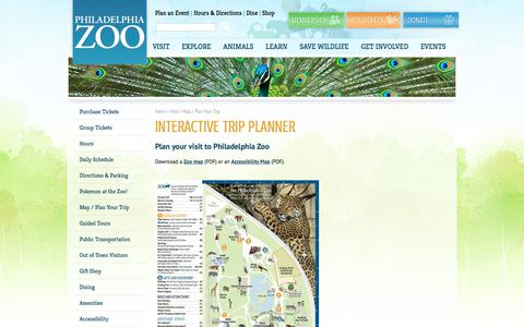 Screenshot of Maps & Directions Page philadelphiazoo.org - Map / Plan Your Trip - Philadelphia Zoo - captured July 17, 2018