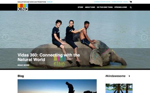 Screenshot of Blog kindsnacks.com - Do The Kind Thing | KINDSnacks - captured Sept. 25, 2014