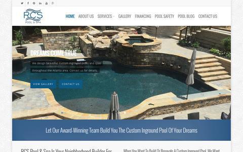 Screenshot of Home Page rcspoolspa.com - Home - RCS Pool & Spa - captured Feb. 14, 2016