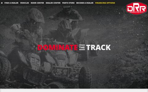Screenshot of Home Page drrusa.com - Youth 4 Wheelers, ATVs and Dirtbikes : DRR USA, Inc. - captured Jan. 7, 2016