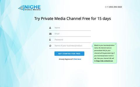 Screenshot of Signup Page nichevid.com - Register | Niche Video Media - captured Feb. 22, 2016