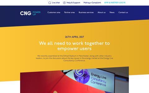 Screenshot of Press Page cngltd.co.uk - News Landing - CNG - captured May 12, 2017