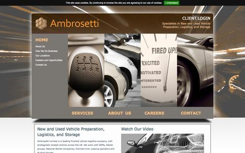 Screenshot of Home Page ambrosetti.co.uk - Ambrosetti | Home | Kent, Northamptonshire - captured Oct. 4, 2014