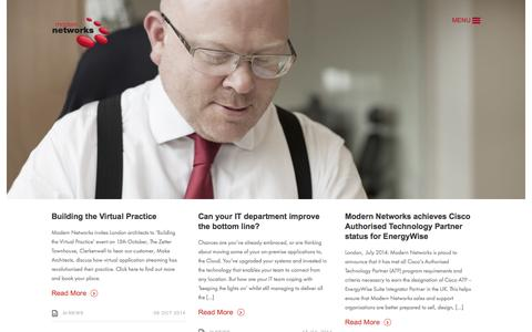 Screenshot of Blog modern-networks.co.uk - Modern Networks - Blog   Modern Networks - captured Oct. 7, 2014