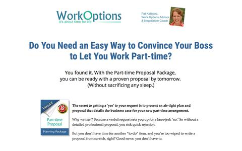 Screenshot of workoptions.com - The Fastest Way to Get Part Time Hours Approved - captured Nov. 24, 2017