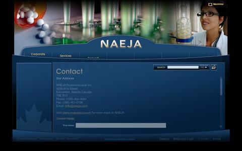 Screenshot of Contact Page naeja.com - NAEJA - captured Oct. 7, 2014