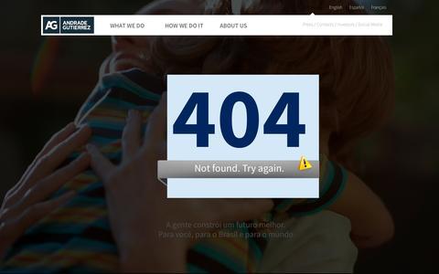 Screenshot of About Page andradegutierrez.com.br - Andrade Gutierrez - captured Oct. 3, 2014