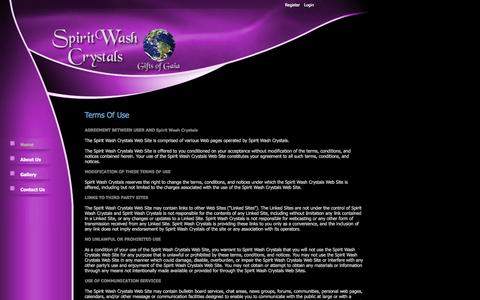 Screenshot of Terms Page spiritwashcrystals.com - Spirit Wash Crystals > Home - captured Oct. 27, 2014