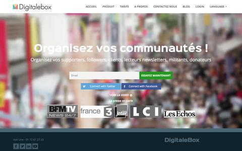 Screenshot of Home Page digitalebox.fr - DigitaleBox - Site - captured June 4, 2017