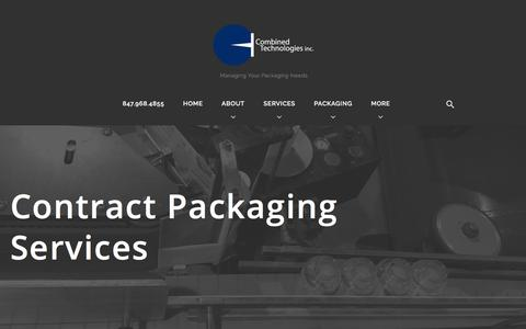 Screenshot of Services Page ctipack.com - Contract Packaging Services - Combined Technologies Inc. - captured Aug. 16, 2017