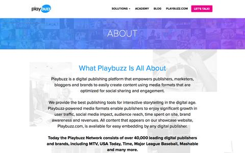 Playbuzz: About Us