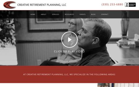 Screenshot of Services Page retirementonly.com - Services | Creative Retirement Planning, LLC - captured Feb. 1, 2016