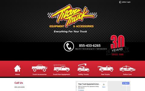Screenshot of Contact Page titantruck.com - Contact Us | Titan Truck - captured Dec. 19, 2016