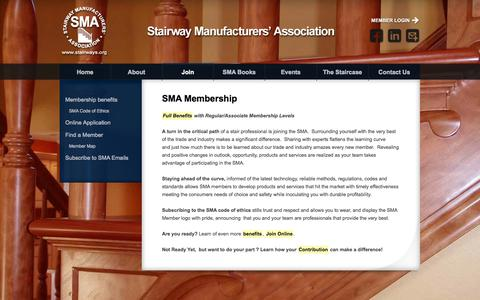 Screenshot of Signup Page stairways.org - SMA - Join - captured Oct. 6, 2014