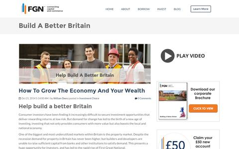 Screenshot of Blog firstgreatnational.com - Build A Better Britain with First Great National - captured Oct. 29, 2014
