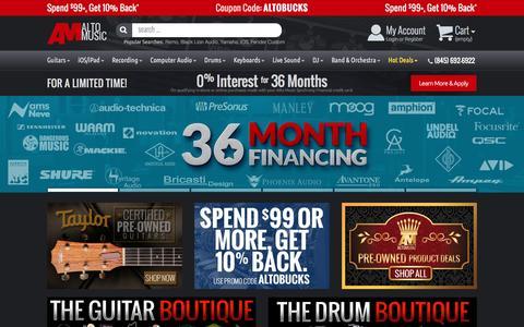 Screenshot of Home Page altomusic.com - Alto Music | AltoMusic.com | (845) 692-6922 - captured May 29, 2017