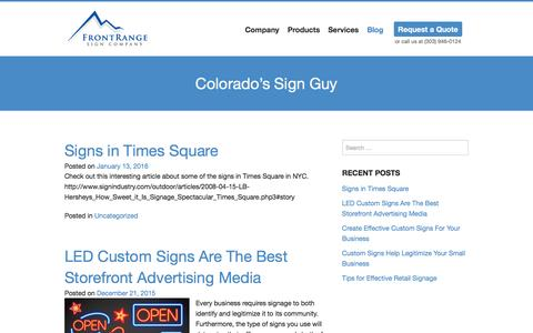 Screenshot of Blog frontrangesigns.com - Blog   Front Range Sign Company - captured Feb. 10, 2016