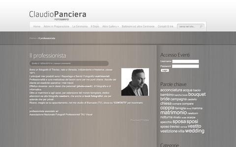 Screenshot of About Page panci.it - Il professionista | Claudio Panciera fotografo matrimoni a Treviso e provincia - captured Nov. 21, 2016