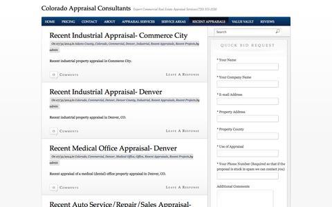 Screenshot of Blog appraisalcolorado.com - Colorado Appraisal Consultants Blog | Colorado Appraisal Consultants - captured Oct. 2, 2014
