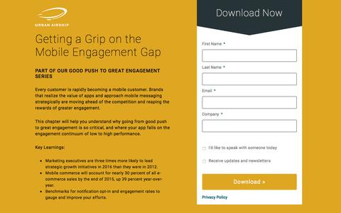 Getting a Grip on the Mobile Engagement Gap