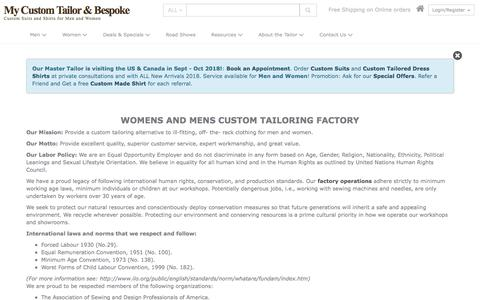 Screenshot of About Page mycustomtailor.com - Online Custom Suits for Men and Women | My Custom Tailor - captured Sept. 21, 2018