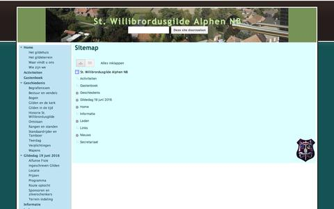 Screenshot of Site Map Page google.com - Sitemap - St. Willibrordusgilde Alphen NB - captured May 28, 2016
