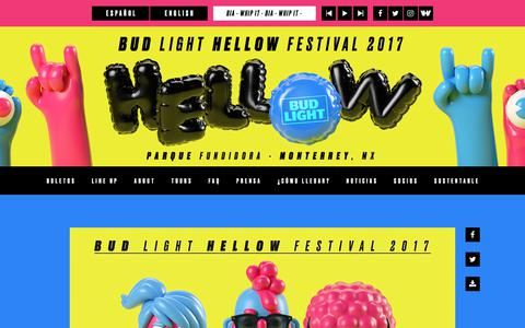 Screenshot of Home Page hellowfestival.com - Bud Light Hellow Festival 2017 - captured July 3, 2017
