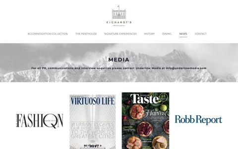 Screenshot of Press Page eichardts.com - Media & Press | Eichardt's Private Hotel Queenstown - captured Dec. 14, 2018