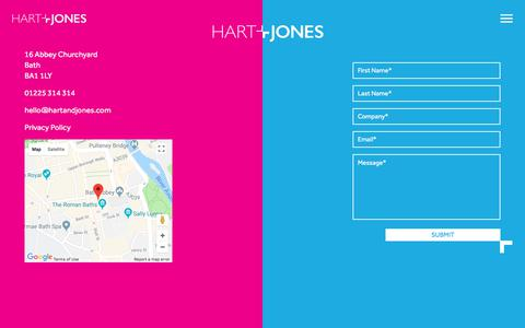 Screenshot of Contact Page hartandjones.com - Contact - Hart + Jones - captured July 16, 2018