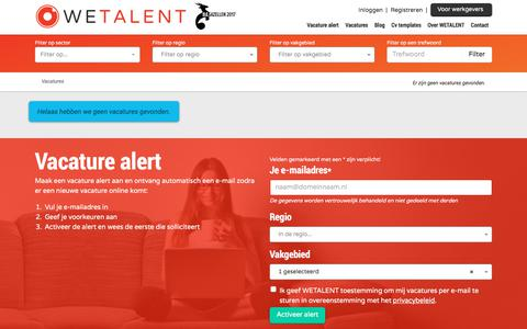 Screenshot of Team Page wetalent.nl - WETALENT RECRUIT - Vacatures - captured Sept. 20, 2018
