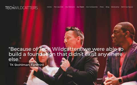 Screenshot of Team Page techwildcatters.com - Our Team |  Tech Wildcatters - captured June 12, 2017