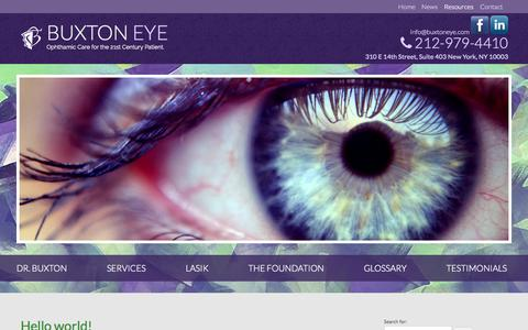Screenshot of Press Page buxtoneye.com - Buxton Eye | Blog - captured Oct. 5, 2014