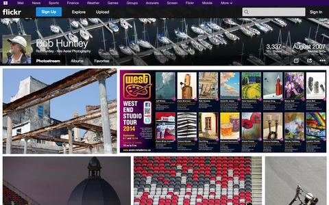 Screenshot of Flickr Page flickr.com - Flickr: Rob Huntley - Kite Aerial Photography's Photostream - captured Oct. 26, 2014